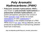 poly aromatic hydrocarbons pah