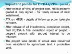 important points for drdas zps contd