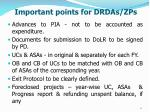 important points for drdas zps