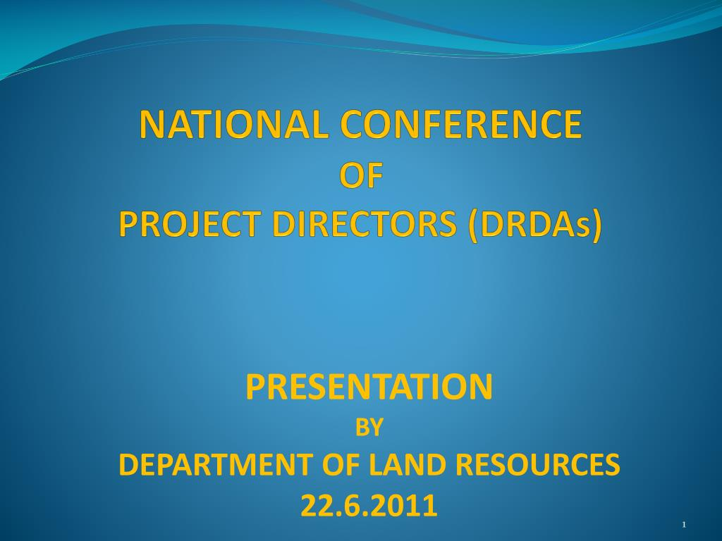 national conference of project directors drdas l.