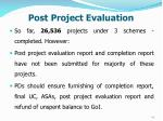 post project evaluation