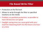 file based write filter
