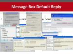 message box default reply