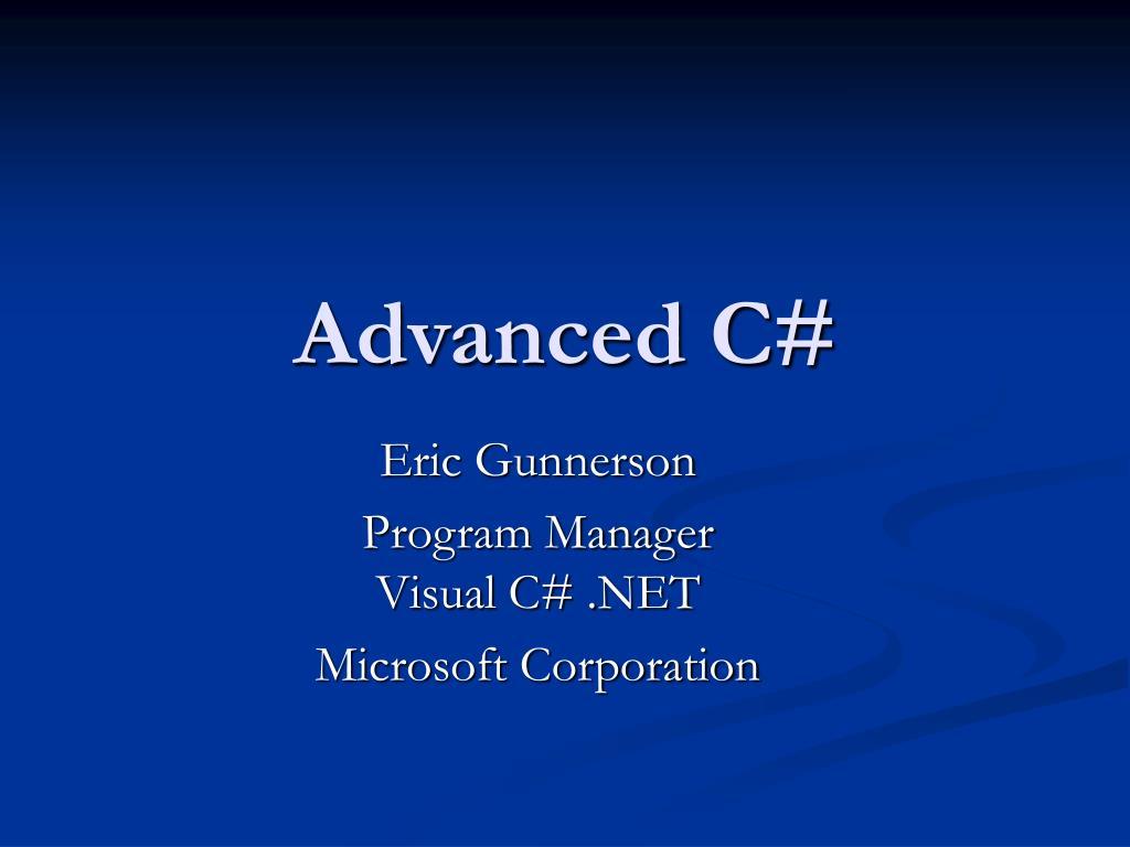 advanced c l.