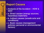 report causes