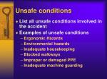 unsafe conditions