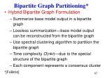 bipartite graph partitioning