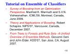tutorial on ensemble of classifiers