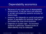 dependability economics