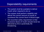 dependability requirements