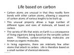 life based on carbon