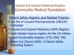 unused and expired medicines registry community medical foundation4