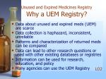 unused and expired medicines registry why a uem registry