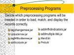 preprocessing programs