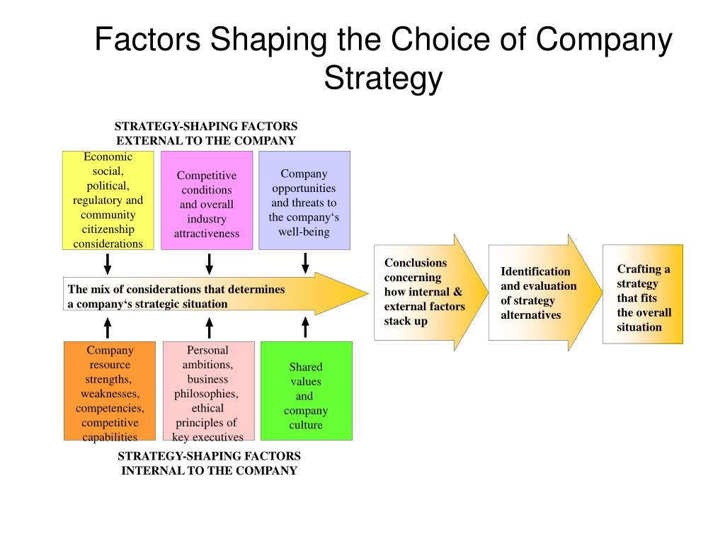 STRATEGY-SHAPING FACTORS