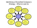 identifying a diversified company s strategy what to look for