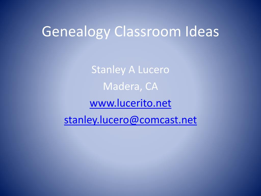 genealogy classroom ideas l.