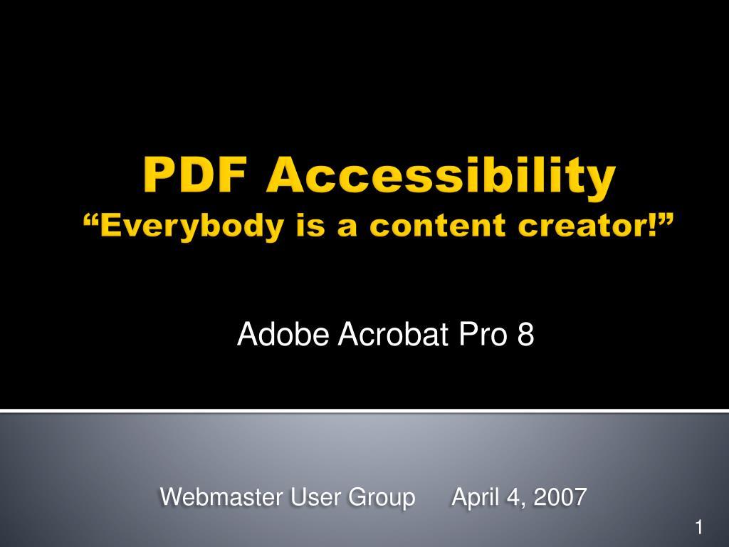 webmaster user group april 4 2007 l.