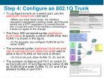 step 4 configure an 802 1q trunk