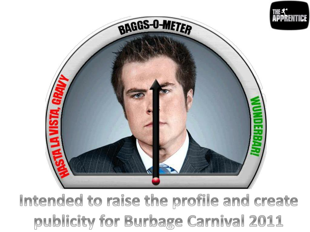 Intended to raise the profile and create publicity for Burbage Carnival 2011