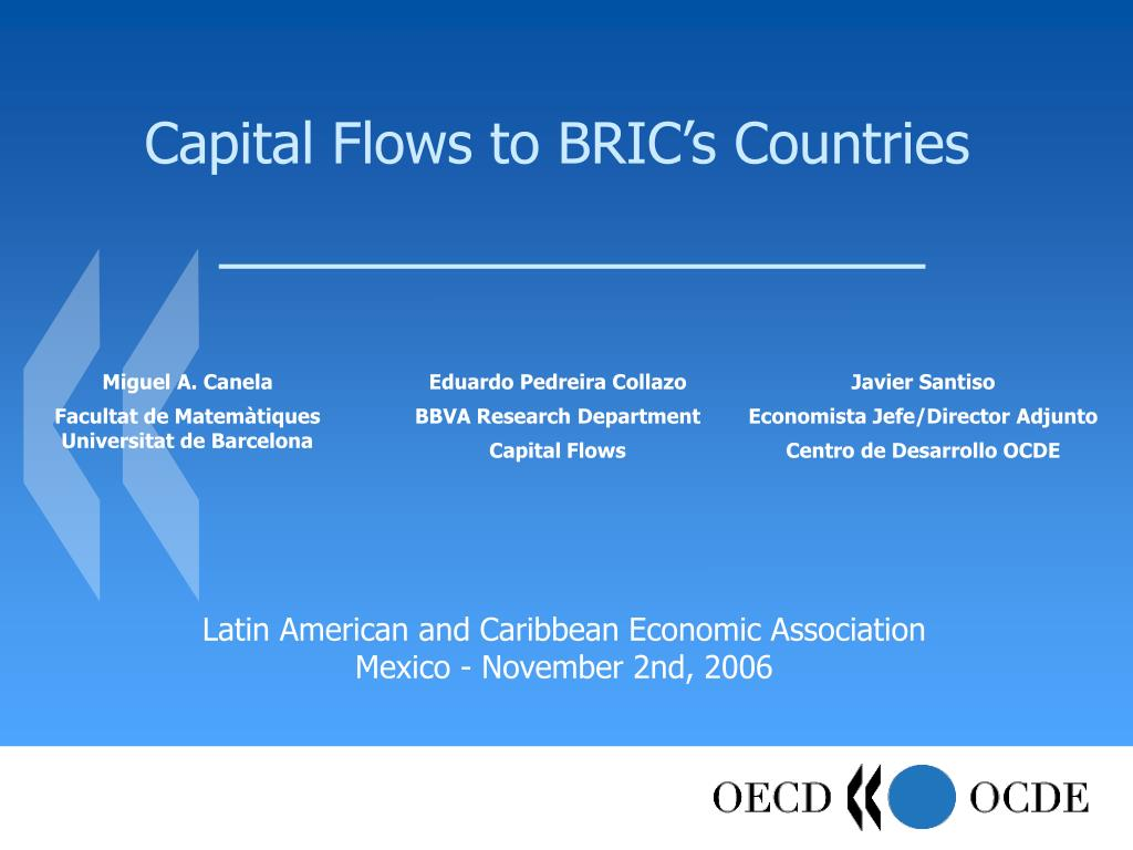 capital flows to bric s countries l.
