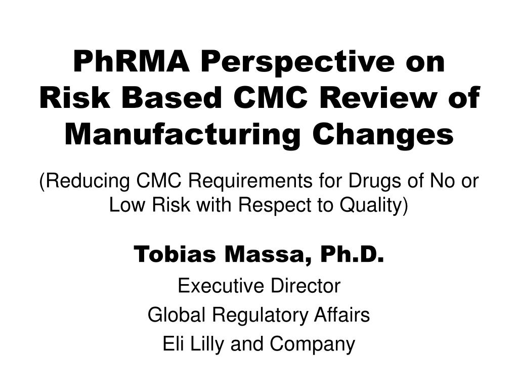 tobias massa ph d executive director global regulatory affairs eli lilly and company l.