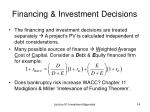 financing investment decisions