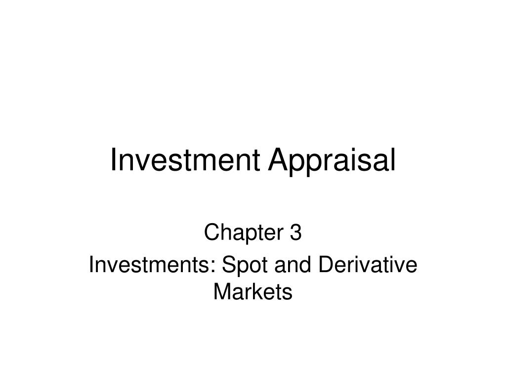 investment appraisal l.