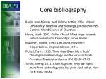 core bibliography