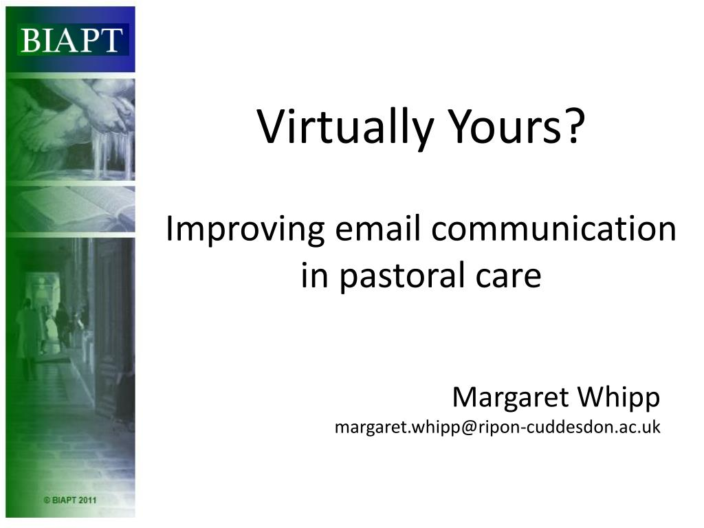 virtually yours improving email communication in pastoral care l.