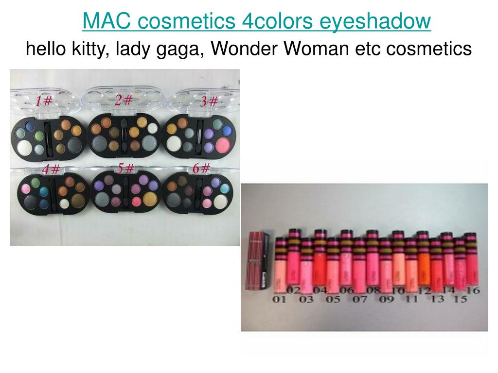 mac cosmetics 4colors eyeshadow l.