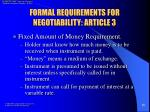 formal requirements for negotiability article 311