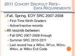 2011 cohort dropout rate