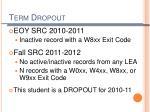 term dropout