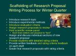 scaffolding of research proposal writing process for winter quarter