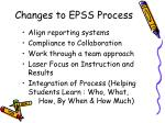 changes to epss process
