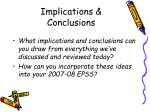 implications conclusions