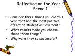 reflecting on the year scene 1