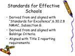 standards for effective schools