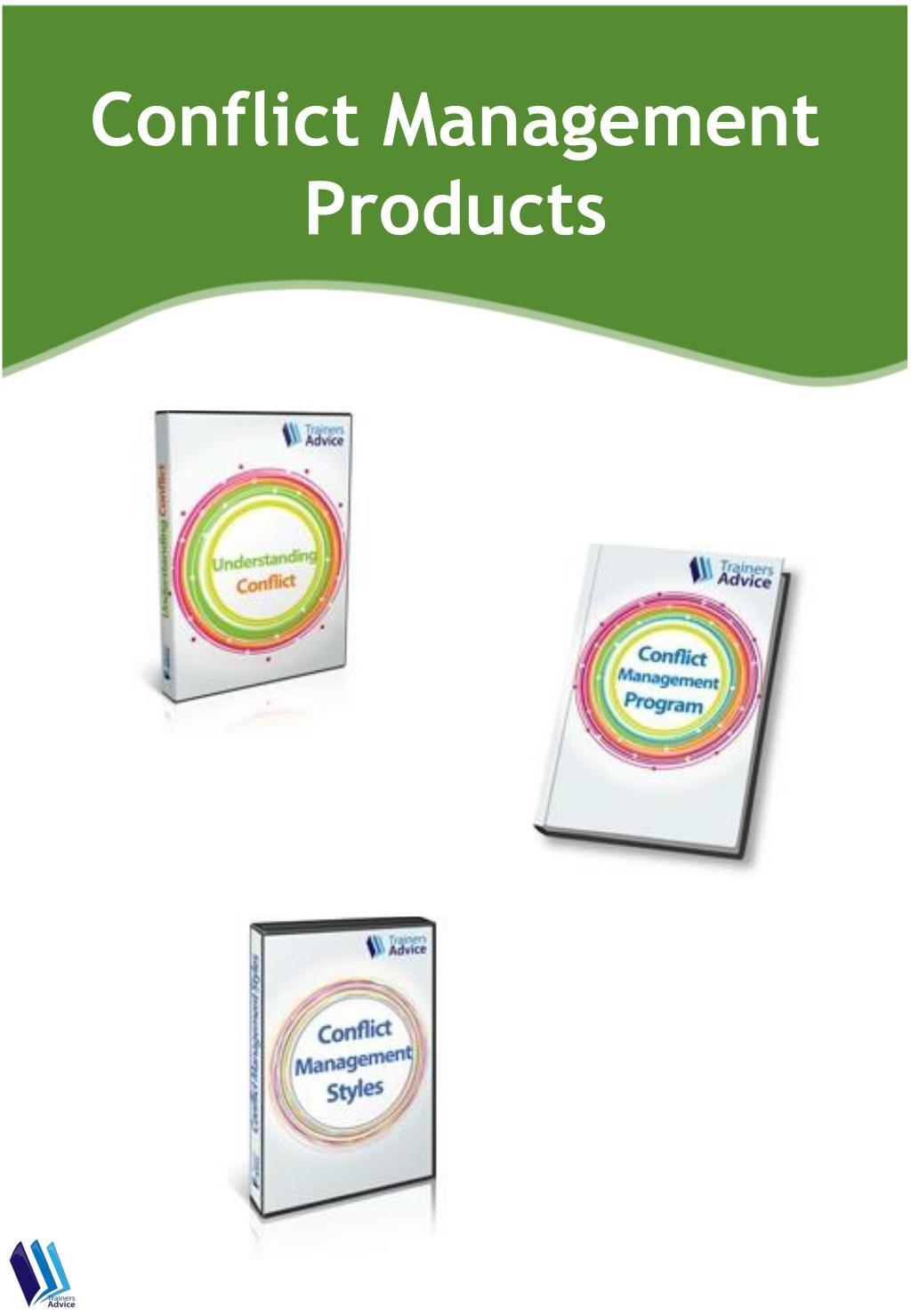 conflict management products l.