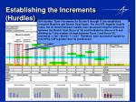establishing the increments hurdles25