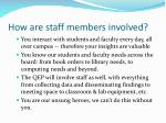 how are staff members involved