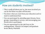how are students involved