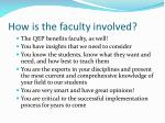 how is the faculty involved