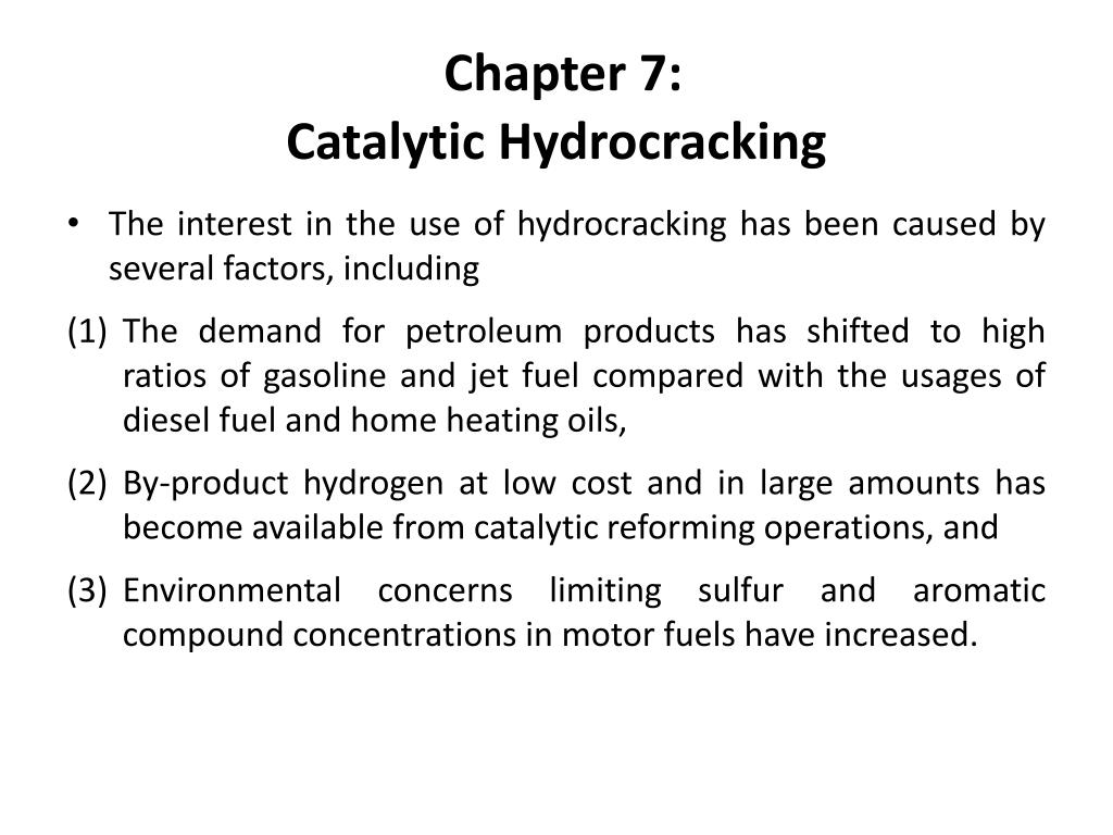 chapter 7 catalytic hydrocracking l.