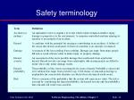 safety terminology