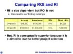 comparing roi and ri