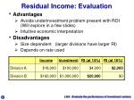 residual income evaluation