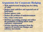 arguments for corporate hedging