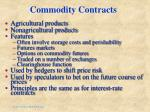 commodity contracts